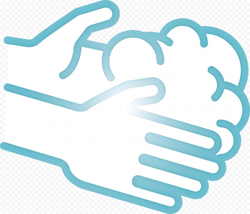 Wash Hands Hygiene Icon Sign Dark Blue Border