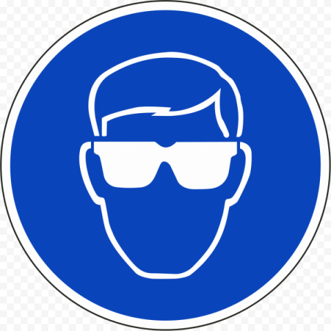 Wear Eye Glasses Protection Safety Sign