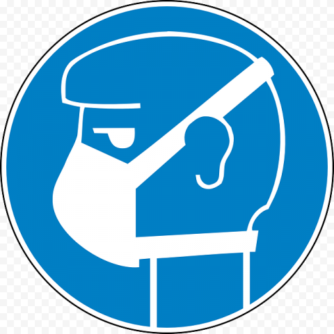 Wear Surgical Mask Required Danger Medical
