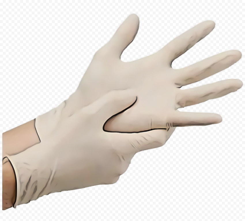 Wearing Surgery Medical White Hands Gloves