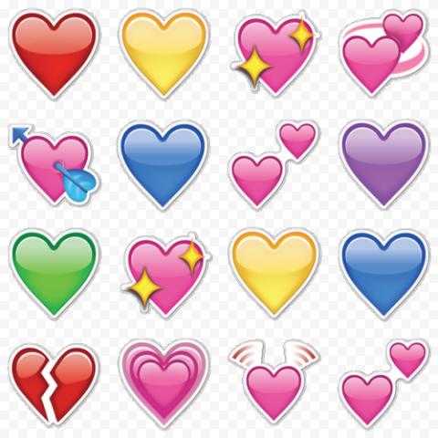 WhatsApp Hearts Clipart Emoji
