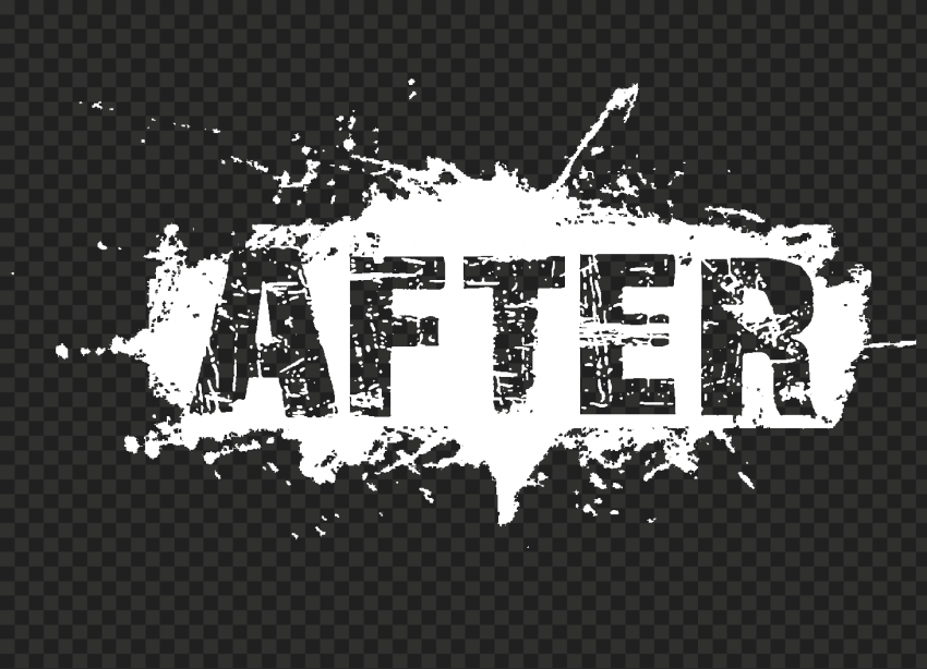 White After Word Grunge Effect HD PNG