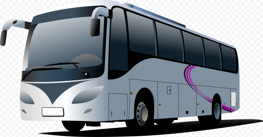 White cartoon illustration bus