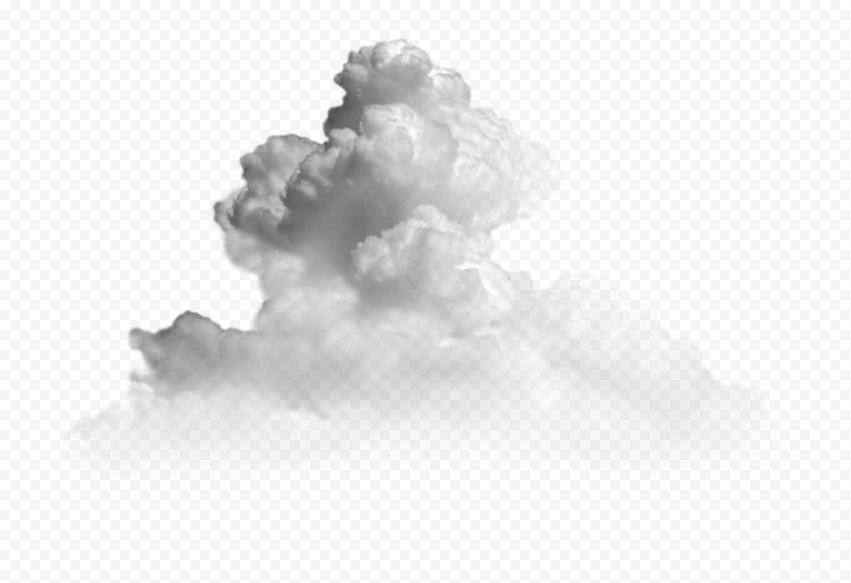 White Dark Smoke Cloud Transparent PNG
