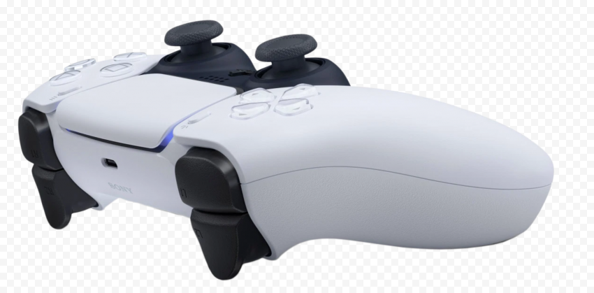 White Ps5 Controller Design Gaming Side View