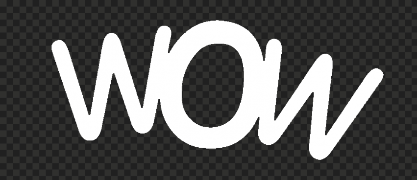White Wow Word Expression PNG