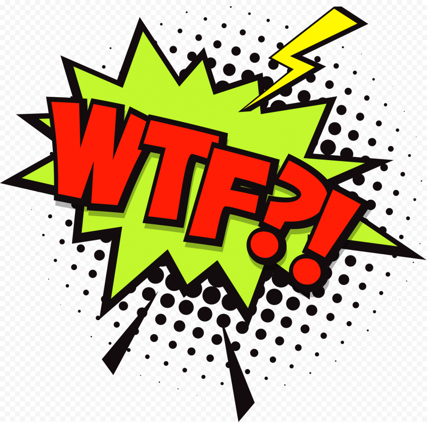 WTF Expression Comic Book Stickers Pop Art