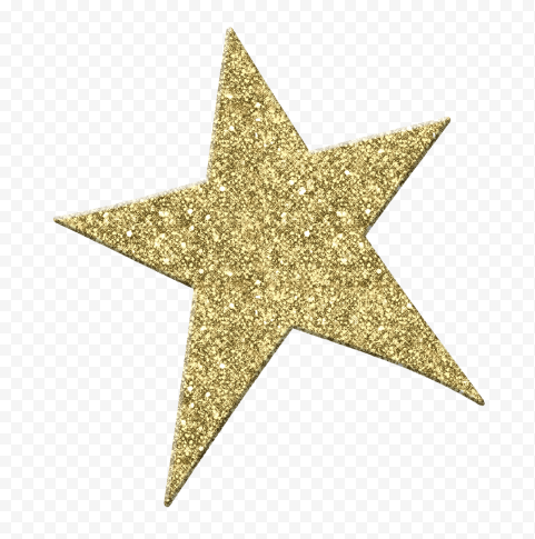 Yellow Gold Glitter Star
