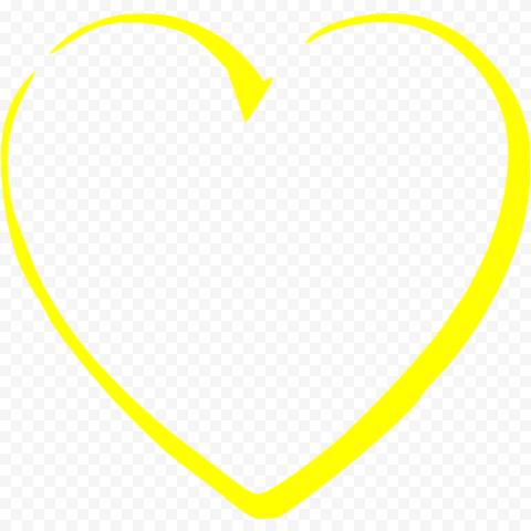 Yellow Heart Outline Art Effect