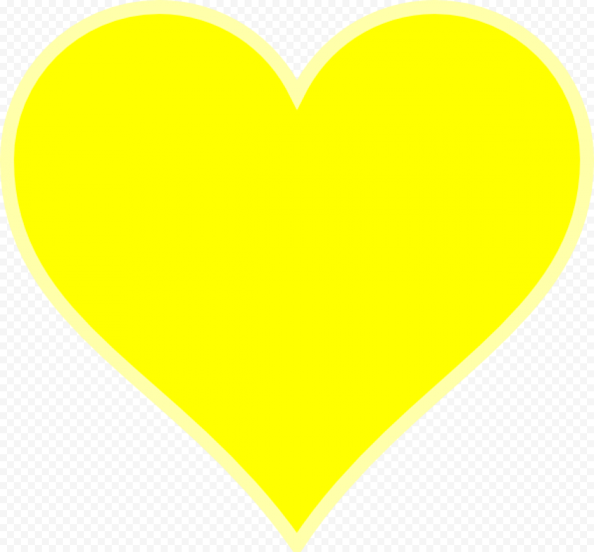 Yellow Heart With Light Yellow Border