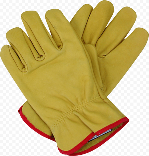 Yellow Pair Gloves Safety Protection Firefighter