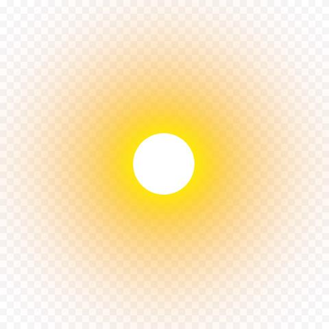 Yellow Sun Circle Effect