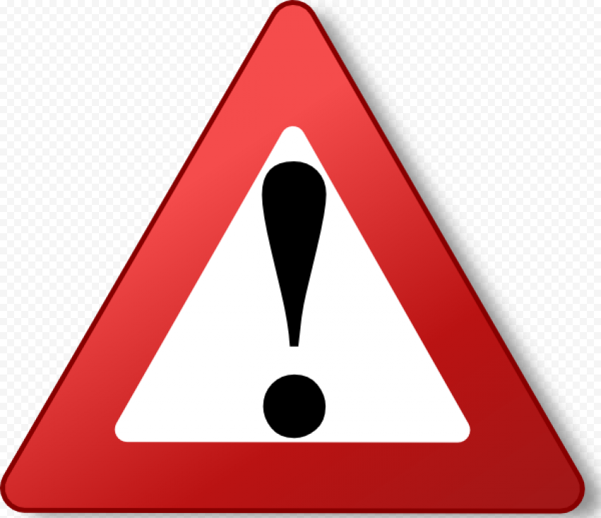 Yield Red Triangle Caution Illustration Road Sign