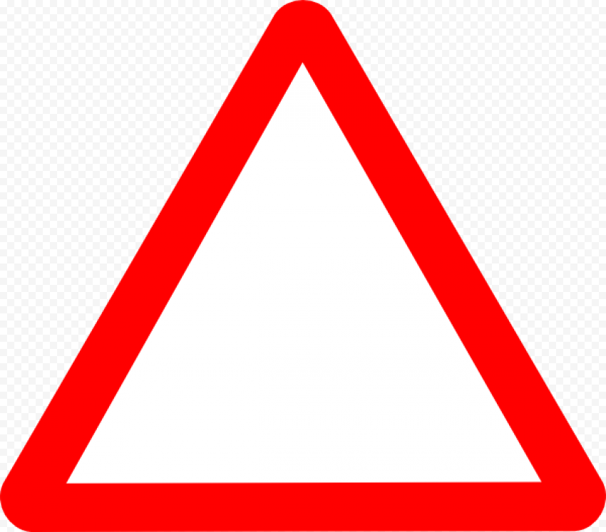 Yield Red Triangle Caution Meaning Road Traffic
