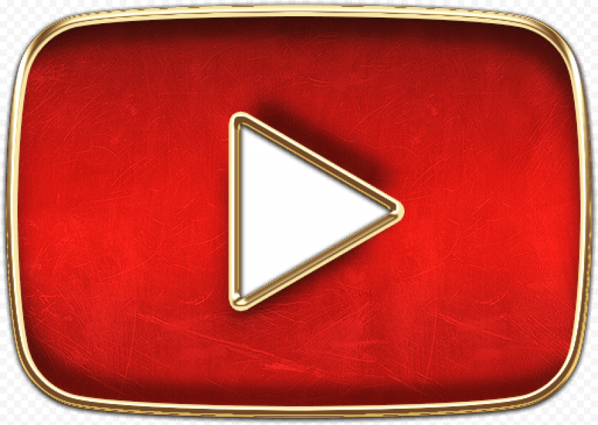 Youtube luxury icon red gold