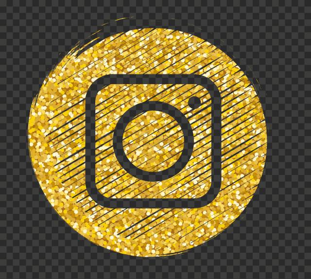 Luxury Black & Gold Yellow Instagram Logo Icon | Citypng
