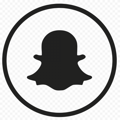 Black Snapchat Icon Cutout Png Clipart Images Citypng