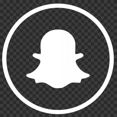 Hd Circle Round Red Snapchat Logo Icon Png Image Citypng