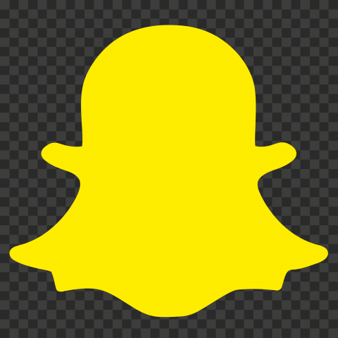 Yellow Transparent Snapchat Logo Cutout Png Clipart Images Citypng