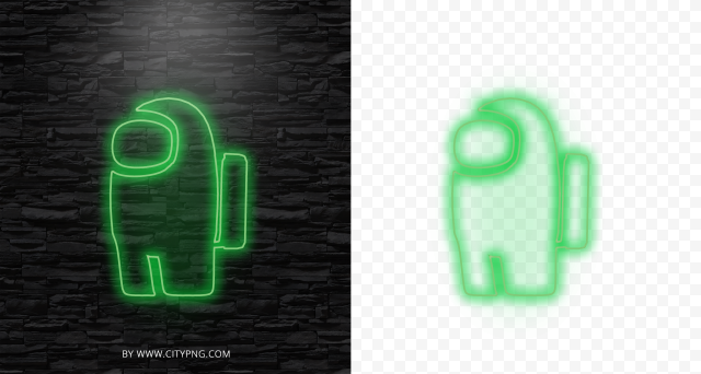 Dark Green Amoung Us Character