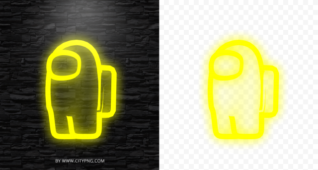 Among Us Neon Logo Game Cutout Png Clipart Images Citypng