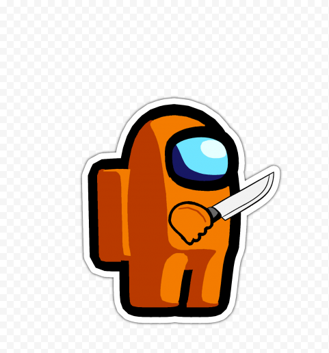 Hd Black Among Us Character With Knife On Hand Png Citypng With tenor, maker of gif keyboard, add popular among us animated gifs to your conversations. hd black among us character with knife