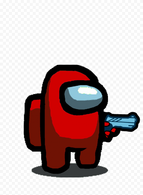 Hd Red Among Us Character With Hand Gun Hand Png Citypng Who turned out to be the impostor? hd red among us character with hand gun